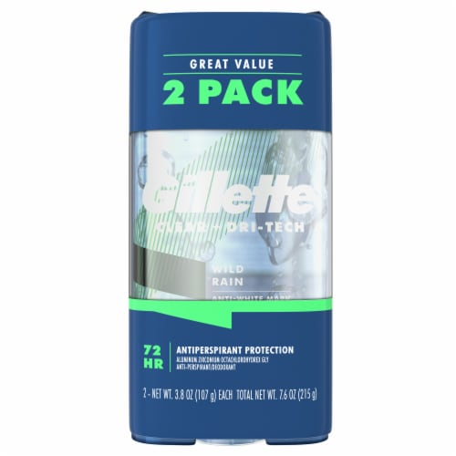 Gillette Endurance Wild Rain Clear Gel Anti-Perspirant Deodorant Twin Pack Perspective: front