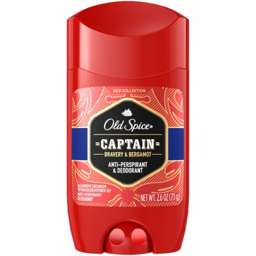 Old Spice Red Collection Captain Anti-Perspirant & Deodorant Stick for Men Perspective: front
