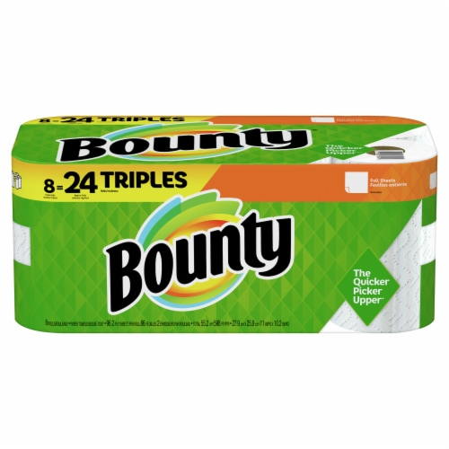 Bounty 2-Ply Triple Paper Towels Perspective: front