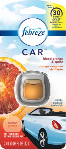 Febreze® Car Blood Orange Vent Clip Air Freshener Perspective: front