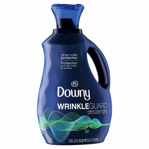 Downy® WrinkleGuard Fresh Scent Liquid Fabric Conditioner Perspective: front