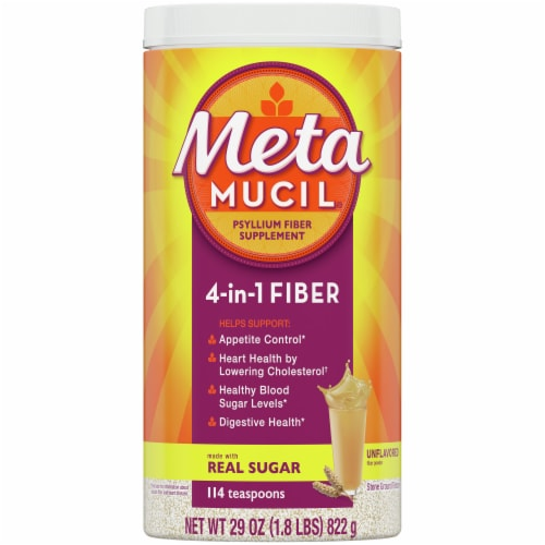 Metamucil 4-in-1 Unflavored Fiber Supplement Powder Perspective: front