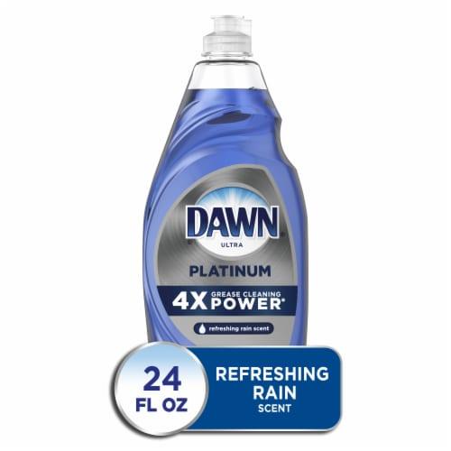 Dawn Platinum Dishwashing Liquid Dish Soap Refreshing Rain Perspective: front