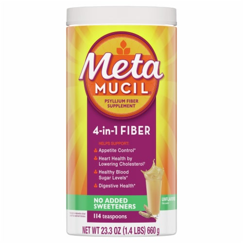 Metamucil Sugar Free Smooth Texture Daily Fiber Supplement Perspective: front