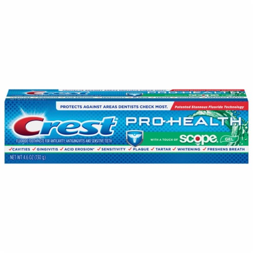 Crest Pro-Health Toothpaste with a Touch of Scope Teeth Whitening Perspective: front