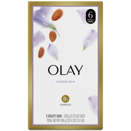 Olay Almond Milk Beauty Bars for Women Perspective: front