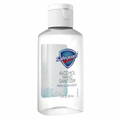 Safeguard Alcohol Hand Sanitizer Fresh Clean Scent Perspective: front