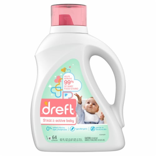 Dreft® Stage 2 Active Baby Liquid Laundry Detergent Perspective: front