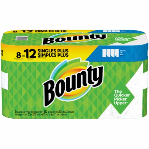 Bounty Select-A-Size Single Plus Roll Paper Towels Perspective: front