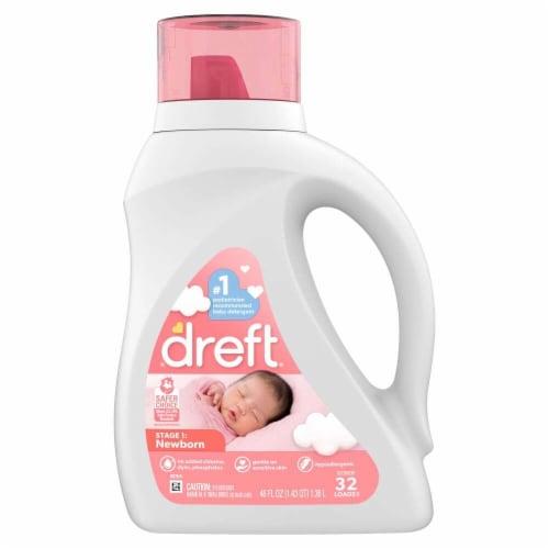 Dreft® Stage 1 Newborn Liquid Laundry Detergent Perspective: front