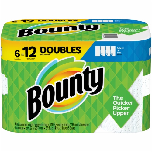 Bounty Select-A-Size Double Rolls Paper Towels Perspective: front