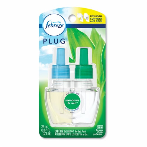 Febreze Morning & Dew Air Freshener Refill (2-Count) 74902 Perspective: front