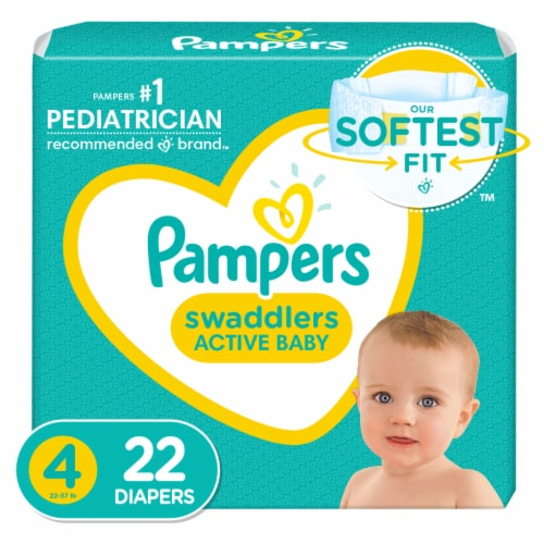 Pampers Swaddlers Size 4 Diapers Perspective: front