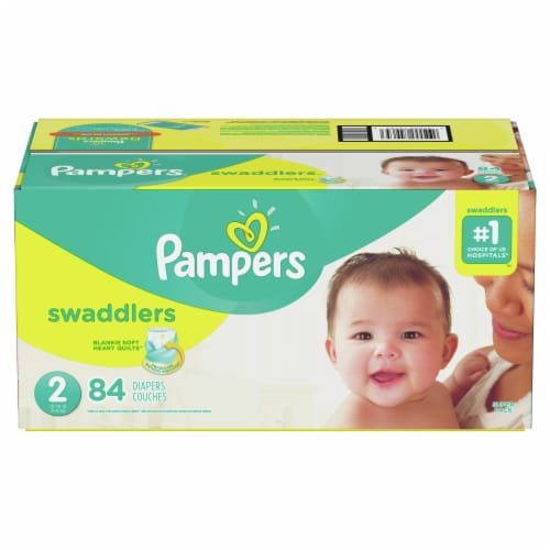 Pampers Swaddlers Size 2 Diapers Perspective: front