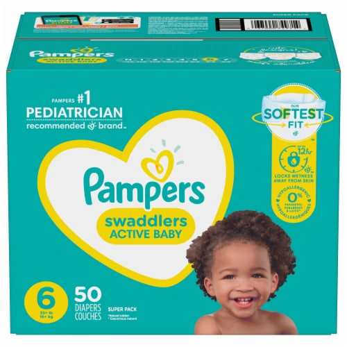 Pampers Swaddlers Size 6 Diapers Perspective: front