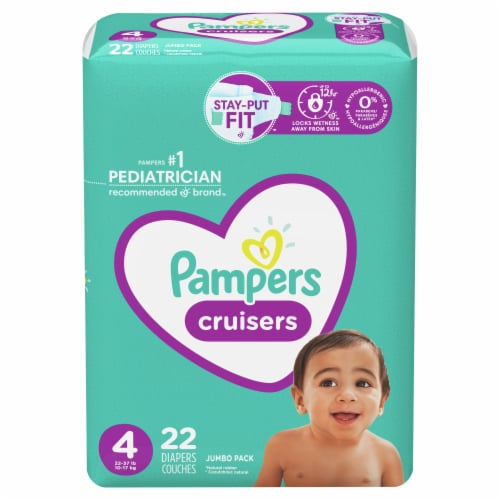 Pampers Cruisers Size 4 Baby Diapers Perspective: front