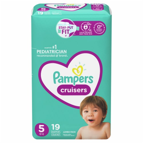 Pampers Cruisers Size 5 Diapers Perspective: front