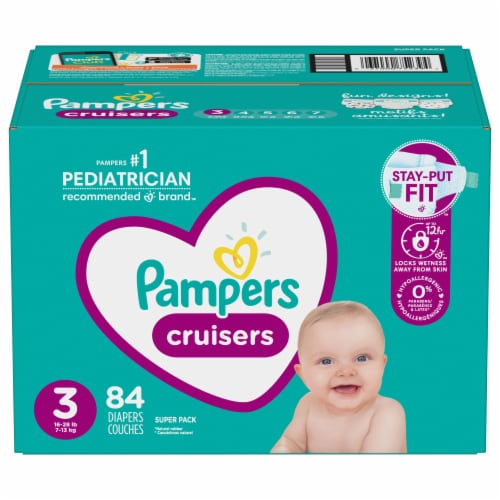 Pampers Cruisers Size 3 Diapers Perspective: front