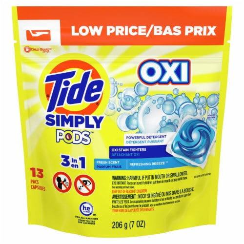 Tide Simply Clean & Fresh Pods Refreshing Breeze Liquid Laundry Detergent Pacs Perspective: front