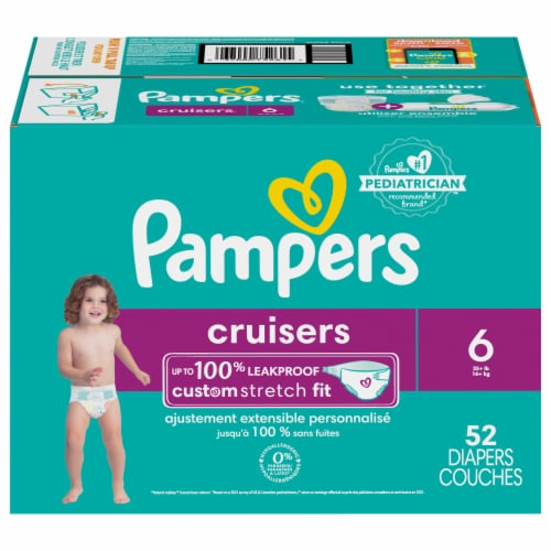 Pampers Cruisers Size 6 Diapers Super Pack Perspective: front