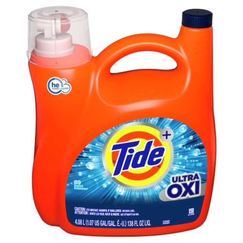 Tide Ultra Oxi Liquid Laundry Detergent Perspective: front