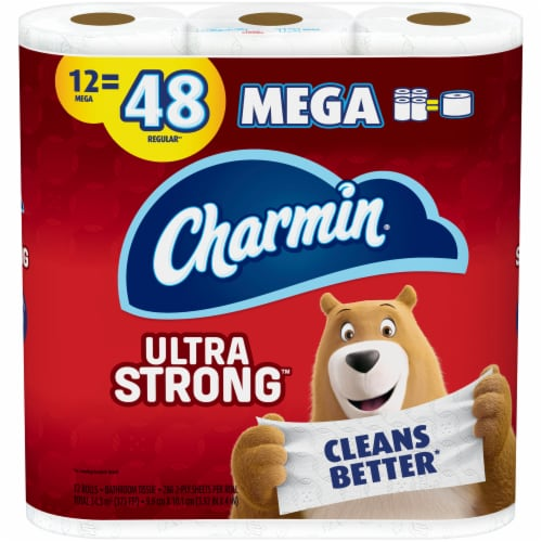 Charmin Toilet Paper Ultra Strong 286 Sheets Per Roll Perspective: front