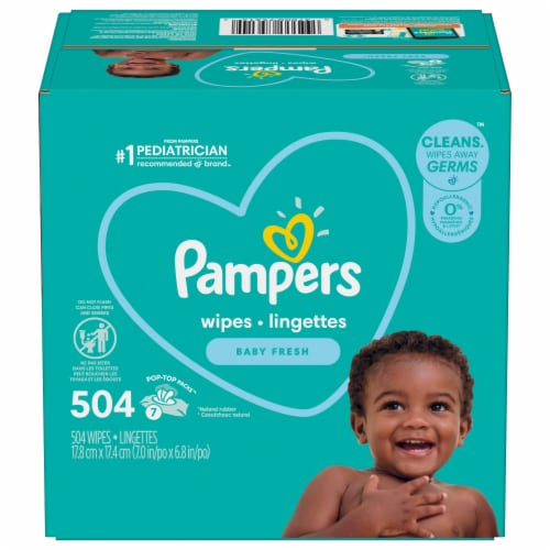 Pampers Complete Clean Baby Fresh Scent Wipes Perspective: front
