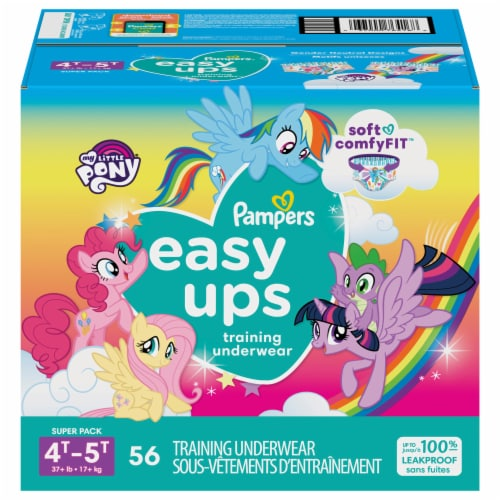 Pampers Easy Ups Girls Size 4T-5T Training Underwear Perspective: front