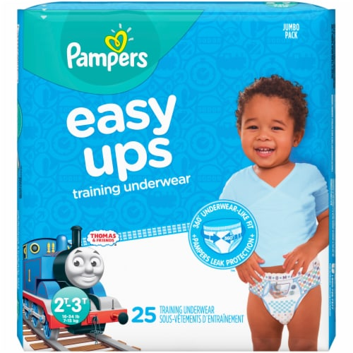 Pampers Easy Ups Size 2T-3T Boys' Training Underwear Perspective: front