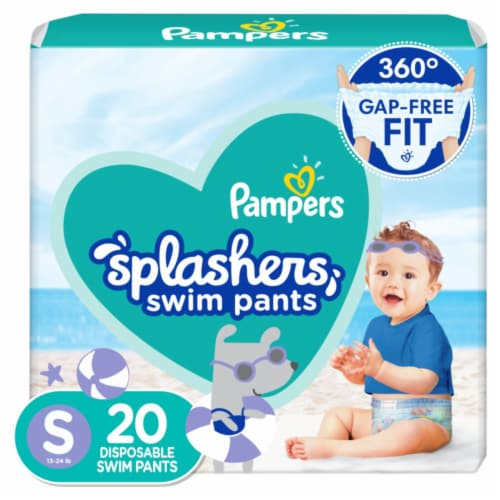 Pampers Splashers Small Disposable Swim Pants Perspective: front
