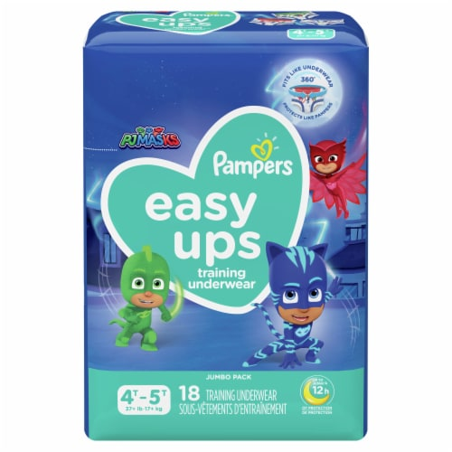 Pampers Easy Ups Size 4T-5T Boys' Training Underwear Perspective: front