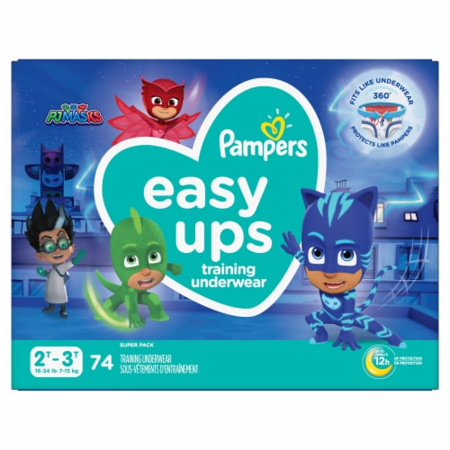 Pampers Easy Ups 2T-3T Boys Training Underwear Perspective: front
