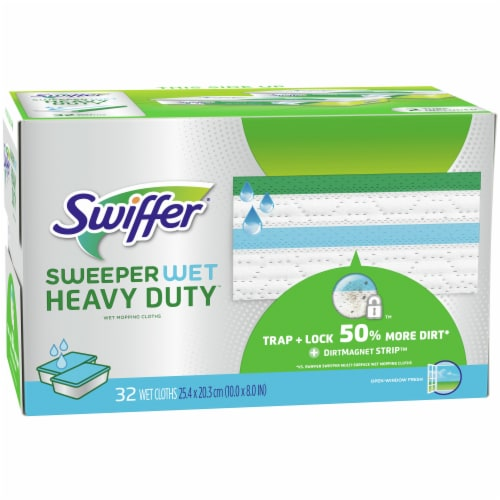 Swiffer Sweeper Wet with Febreze Freshness Lavender Scent Heavy Duty Wet Mopping Cloth Refills Perspective: front