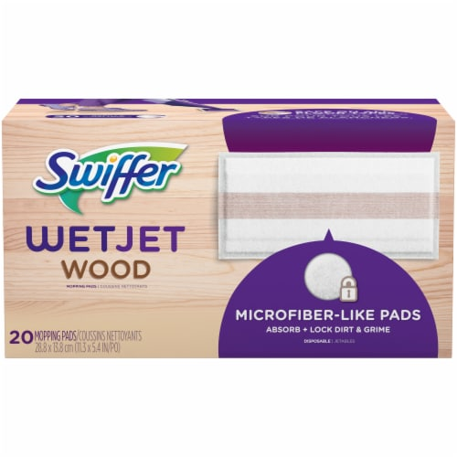 Swiffer WetJet Wood Mopping Pad Refill Perspective: front