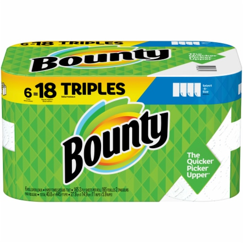 Bounty Select-A-Size Triple Rolls Paper Towels Perspective: front