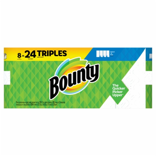 Bounty Select-A-Size White Triple Roll Paper Towels Perspective: front