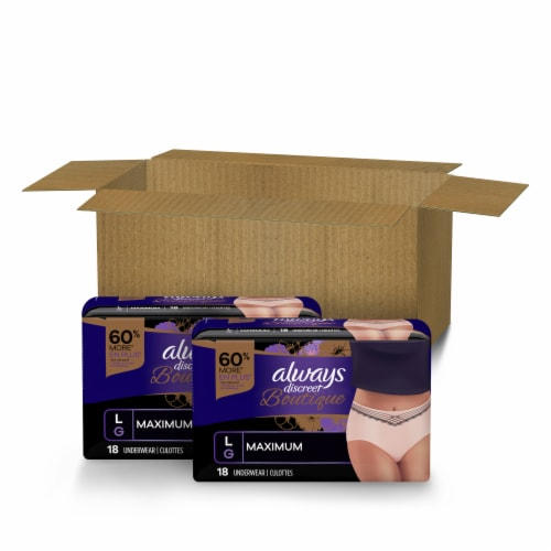 Always Discreet Boutique Small Medium Maximum Incontinence Underwear Perspective: front