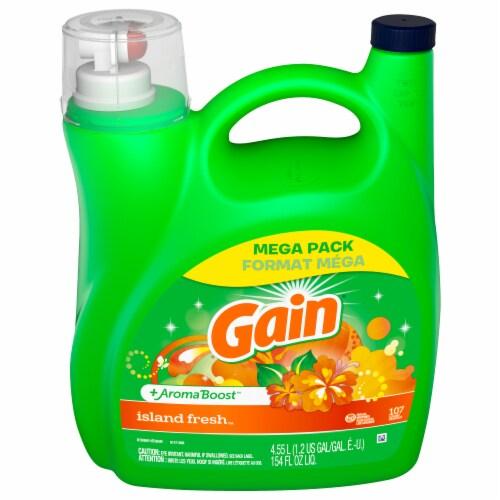 Gain® Island Fresh Liquid Laundry Detergent Perspective: front