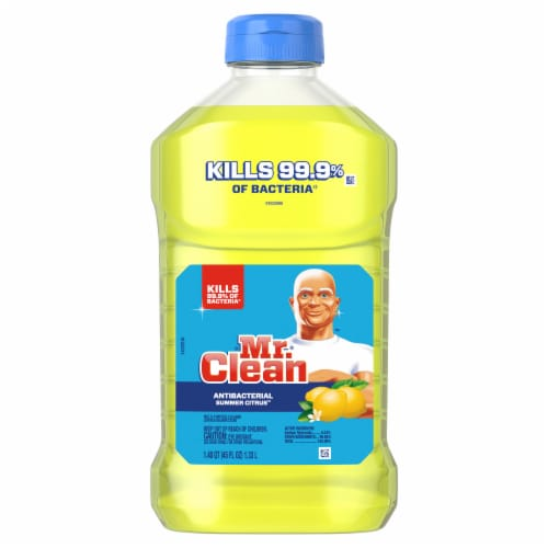 Mr. Clean Summer Citrus Antibacterial Cleaning Liquid Perspective: front