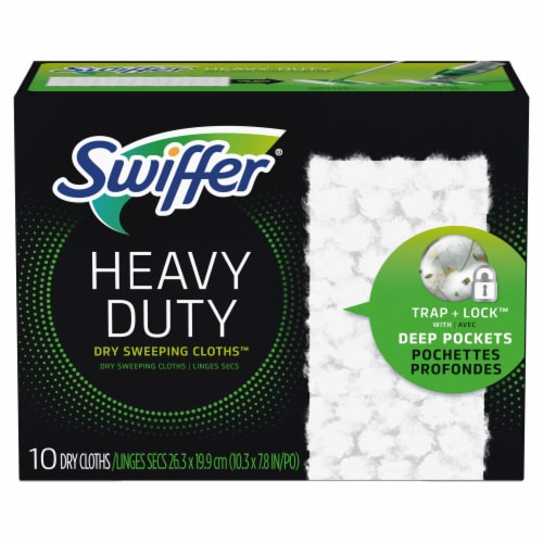 Swiffer® Sweeper Heavy Duty Dry Sweeping Cloths Perspective: front