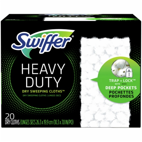 Swiffer Heavy Duty Dry Sweeping Cloth Refils Perspective: front