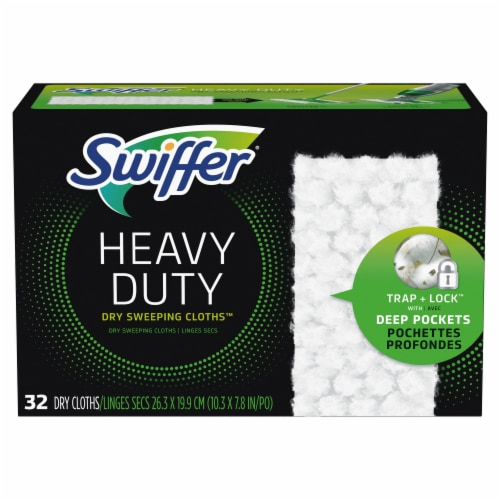 Swiffer Heavy Duty Dry Sweeping Cloth Refills Perspective: front
