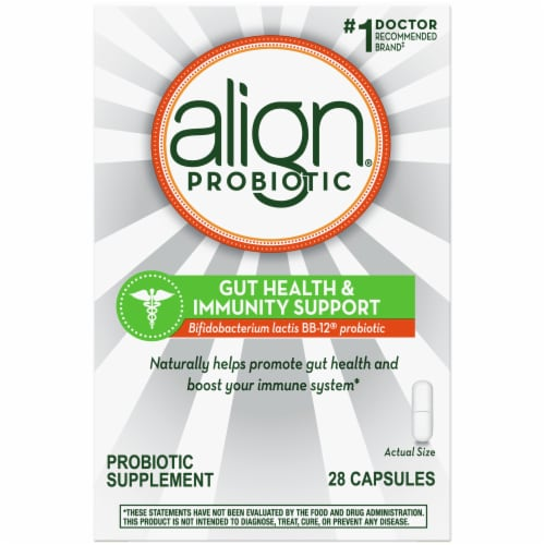 Align Gut Health & Immunity Support Probiotic Capsules Perspective: front