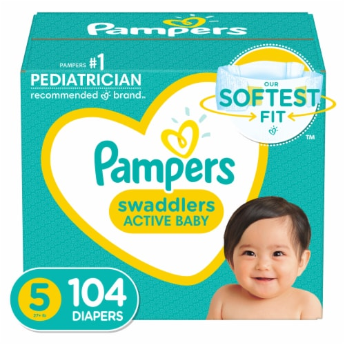 Pampers Swaddlers Size 5 Diapers Perspective: front