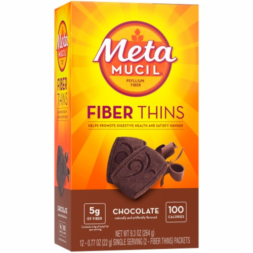 Metamucil Chocolate Fiber Thins Perspective: front