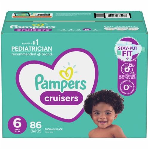 Pampers Cruisers Size 6 Diapers Perspective: front
