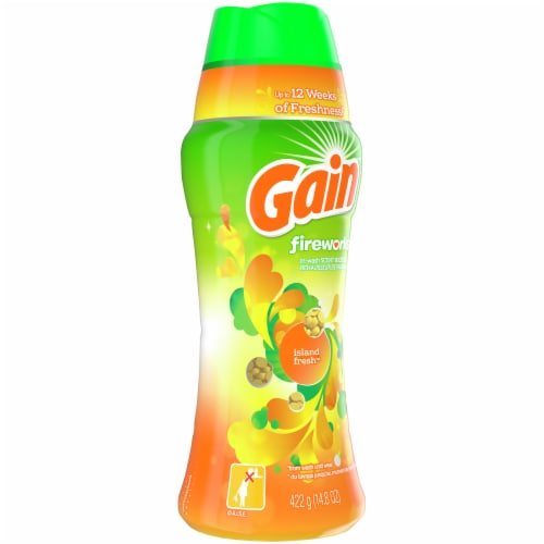 Gain Fireworks Island Fresh In-Wash Scent Booster Perspective: front