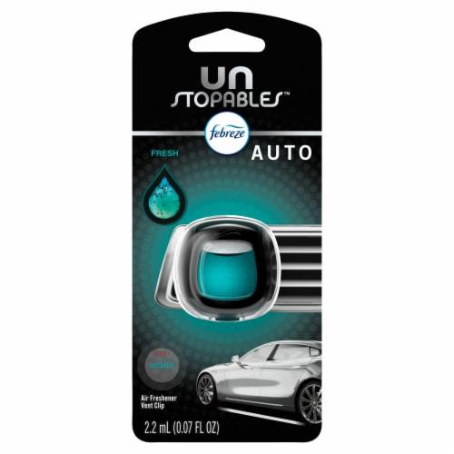 Febreze Auto Unstopables Fresh Air Freshener Vent Clip Perspective: front
