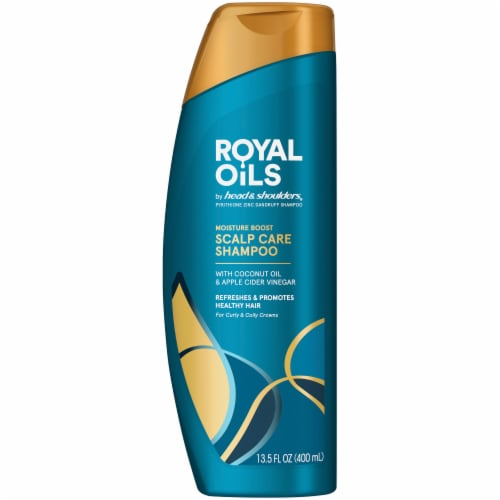 Head & Shoulders Royal Oils Shampoo with Coconut Oil for Natural Coily and Curly Hair Perspective: front