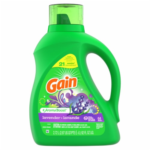 Gain + Aroma Boost Lavender Liquid Laundry Detergent Perspective: front